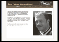 The David Fletcher Memorial Fund website screenshot