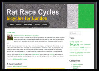 Rat Race Cycles website screenshot